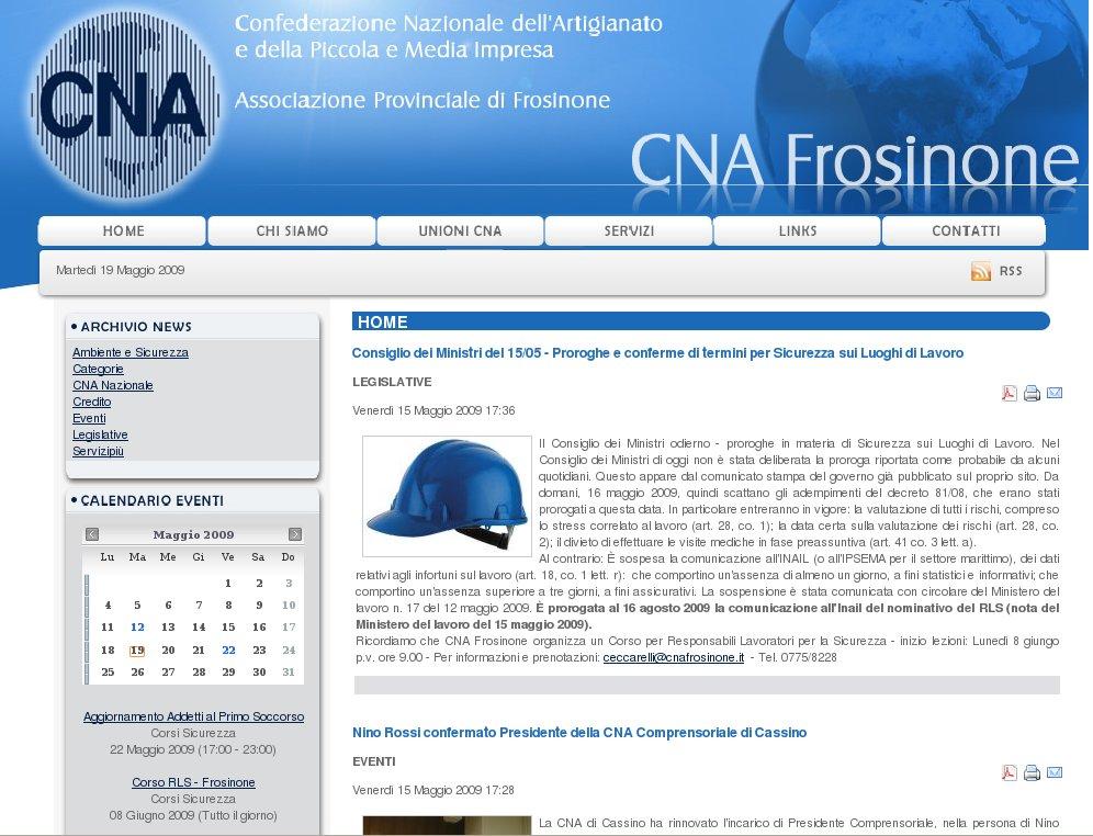 """Featured image for """"Nuovo sito Internet CNA Frosinone"""""""