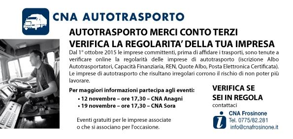 """Featured image for """"Autotrasporto. Verifica regolarità impresa – Seminari ad Anagni e Sora"""""""