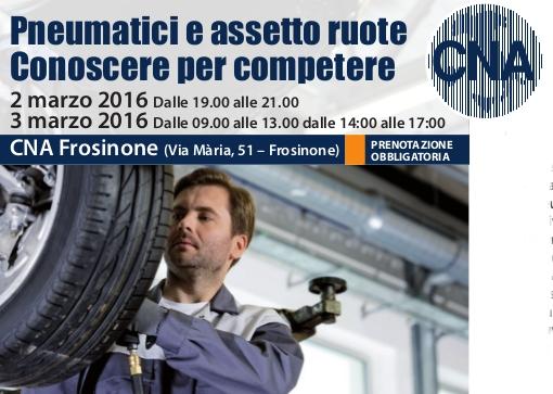 """Featured image for """"Autoriparazione. Corso """"Pneumatici e assetto ruote. Conoscere per competere"""""""""""
