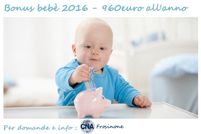 """Featured image for """"Bonus Bebè 2016 – Per informazioni e presentare la domanda  rivolgiti a CNA"""""""
