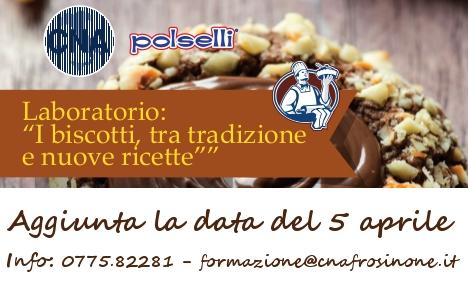 """Featured image for """"Laboratorio: """"I biscotti, tra tradizione e nuove ricette"""" – Aggiunta la data del 5 aprile"""""""