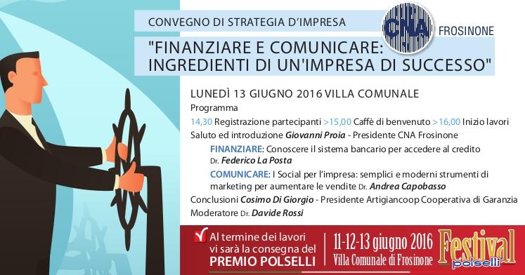 """Featured image for """"""""Finanziare e comunicare: ingredienti di un'impresa di successo""""- 13 giugno Frosinone"""""""