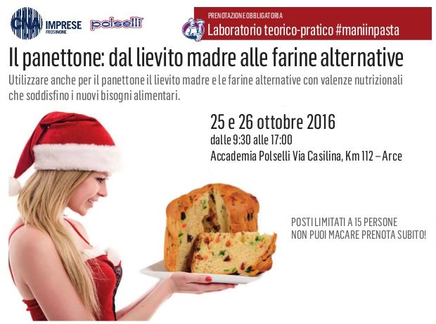 """Featured image for """"Laboratorio teorico/pratico. Il panettone, dal lievito madre alle farine alternative"""""""