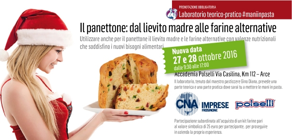 """Featured image for """"Il panettone: dal lievito madre alle farine alternative – AGGIUNTA LA DATA  DEL 27 e 28 OTTOBRE"""""""
