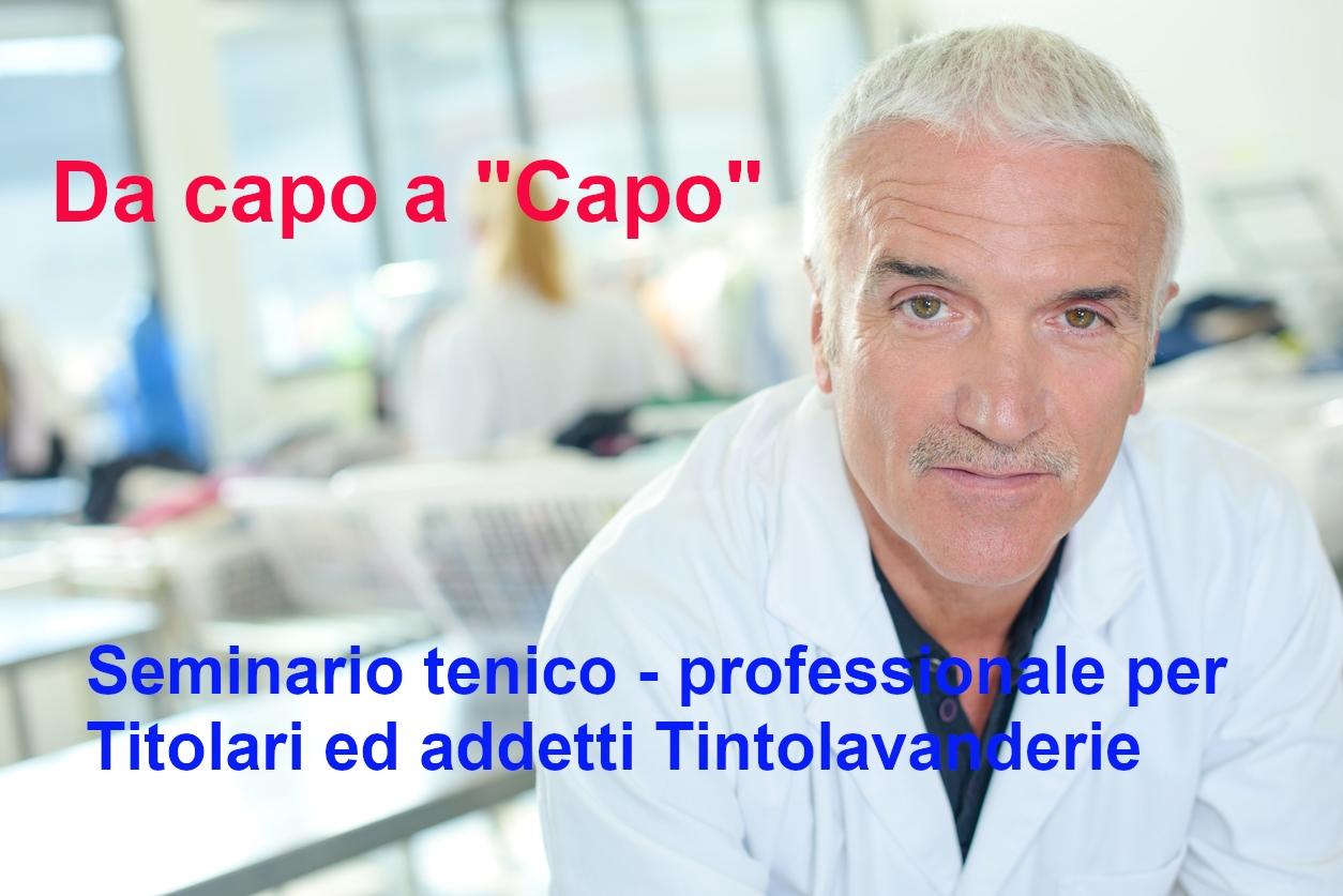 """Featured image for """"Da capo a """"Capo"""" – Seminario Tecnico-Professionale per Titolari ed addetti del Settore Tinto-Lavanderie"""""""