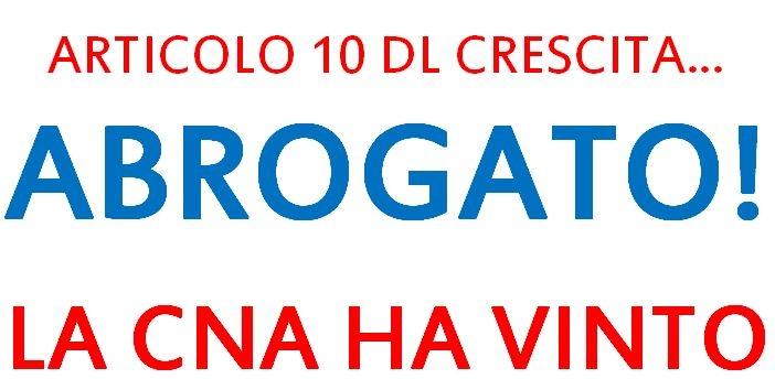 """Featured image for """"L'Articolo 10 del Decreto Crescita è stato abrogato!"""""""