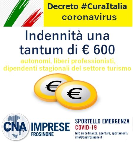 """Featured image for """"Decreto """"Cura Italia"""" – Indennità una tantum di € 600, rivolgiti al nostro patronato"""""""