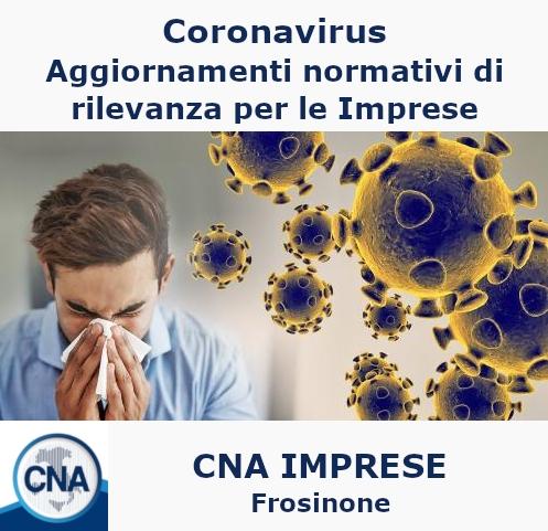 """Featured image for """"Importanti aggiornamenti normativi su Coronavirus di rilevanza per le Imprese"""""""