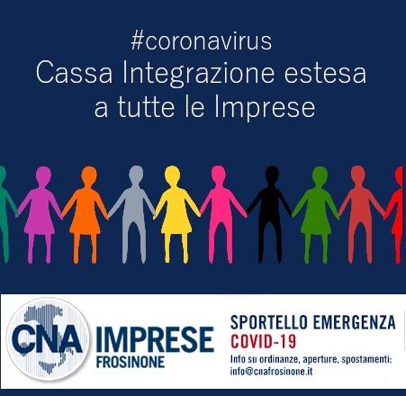 """Featured image for """"Coronavirus. Cassa Integrazione estesa a tutte le Imprese"""""""