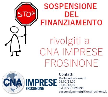 """Featured image for """"Sospensione del Finanziamento – Rivolgiti a CNA IMPRESE Frosinone"""""""