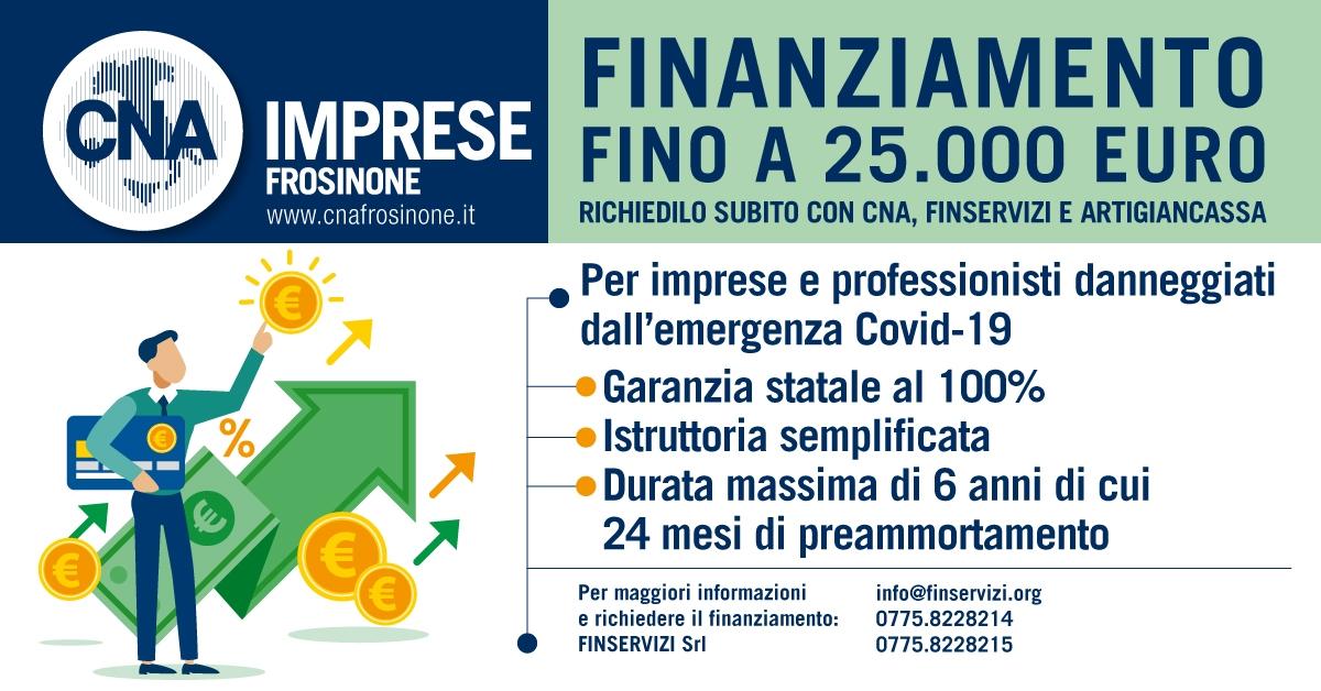 """Featured image for """"Finanziamento fino a 25.000 euro – Richiedilo subito con CNA, Finservizi e Artigiancassa"""""""