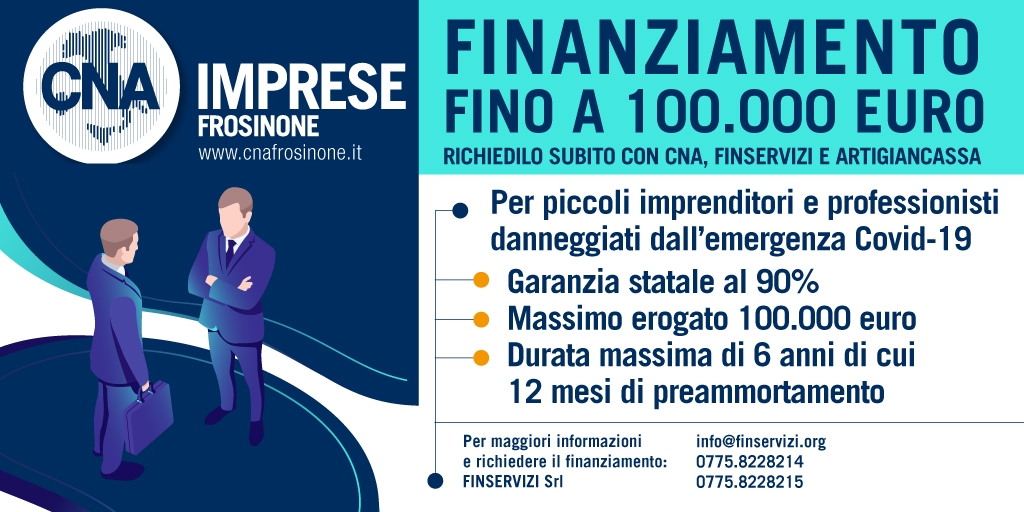 """Featured image for """"Finanziamento fino a 100.000 euro. Richiedilo subito con CNA, Finservizi e Artigiancassa"""""""