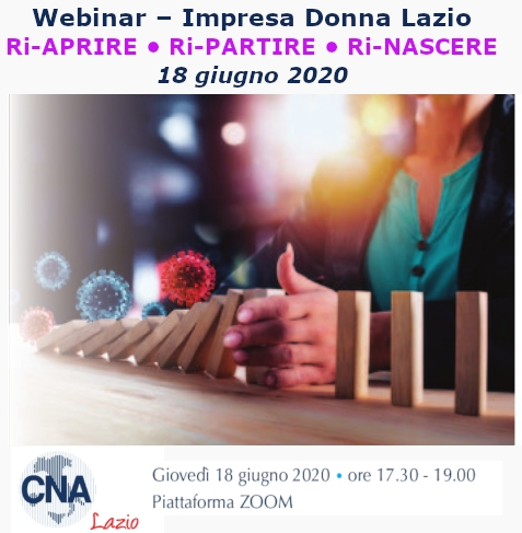 "Featured image for ""Impresa Donna Lazio – Seminario Ri-APRIRE • Ri-PARTIRE • Ri-NASCERE"""