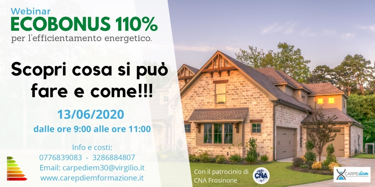 "Featured image for ""Webinar – Ecobonus 110% per il risparmio energetico"""